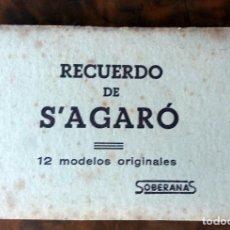 12 MINI POSTALES CON CARTERITA RECUERDO DE S'AGARO - SOBERANAS- VER FOTOS