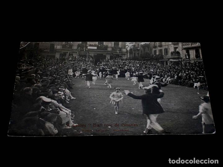 POSTAL FOTOGRÁFICA ST. SANT CELONI, BALL TIPIC DE GITANES, L. ROISIN, BARCELONA, ORIGINAL AÑOS 20. (Postales - España - Cataluña Antigua (hasta 1939))