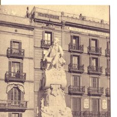 Postales: BARCELONA-MONUMENTO A F. SOLER-PITARRA Y HOTEL FALCÓN.-- A T V Nº 237. Lote 112893487