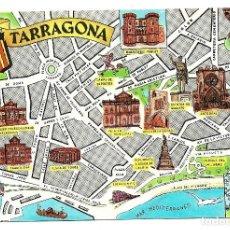 Postales: TARRAGONA .- PLANO CIUDAD .- EDICIONES FRESMO .- SIN CIRCULAR . Lote 112956867