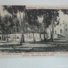 Postales: TARJETA POSTAL - MANANTIAL BURRIACH - ARGENTONA - FOTOGRAFÍA THOMAS - AÑOS 20. Lote 112967015