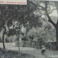 Postales: TARJETA POSTAL - MANANTIAL BURRIACH - ARGENTONA - FOTOGRAFÍA THOMAS - AÑOS 20. Lote 112970855