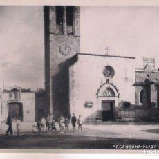 Postales: POSTAL DE ARGENTONA - PLAZA DE LA IGLESIA -. Lote 113010271