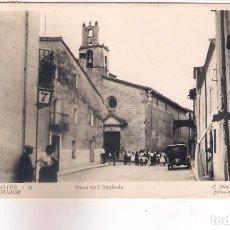 Postales: PLAZA DE SAN ANTONI DE VILAMAJOR - PLAÇA DE LA ESGLESIA -. Lote 113010459