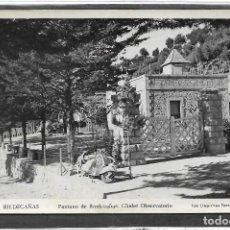 Postales: RIUDECAÑAS Nº 3 .- PANTANO CHALET OBSERVATORIO .- FOTO DEPORTES FERRÉ .- SIN CIRCULAR . Lote 113117251
