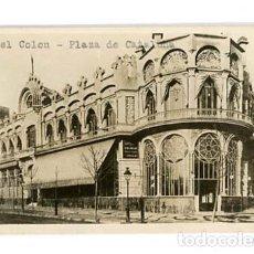 Postales: BARCELONA PLAZA DE CATALUÑA PRIMER HOTEL COLON. POSTAL FOTOGRÁFICA. SIN CIRCULAR. Lote 113621443