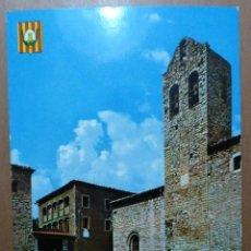 Postales: POSTAL CASTELLAR DE N'HUG (PIRINEO CATALAN) IGLESIA PARROQUIAL Y PLAZA EDICIONES ARRIBAS. Lote 113679175