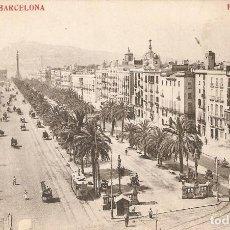 Postales: BARCELONA 36 PASEO DE COLÓN MADRIGUERA CIRCULADA 1909. Lote 113885059
