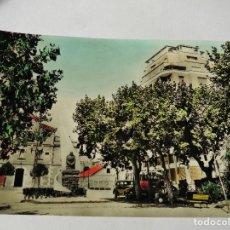 Postales: MAGNIFICA ANTIGUA POSTAL DE IGUALADA PASEO VERDAGUER DEL 1960. Lote 114011143
