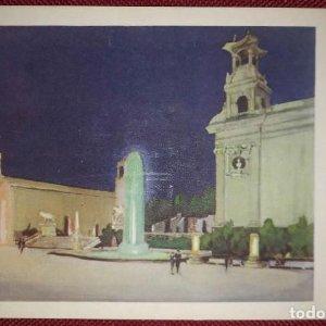 Exposición internacional de barcelona 1929 aspecto nocturno plaza de bellos oficios