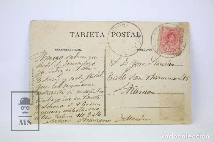 Postales: Antigua Postal Animada - San Celoni Nº 5 / Plaça Del Mercat - Ed. El Siglo Moderno - Año 1912 - Foto 2 - 114958111