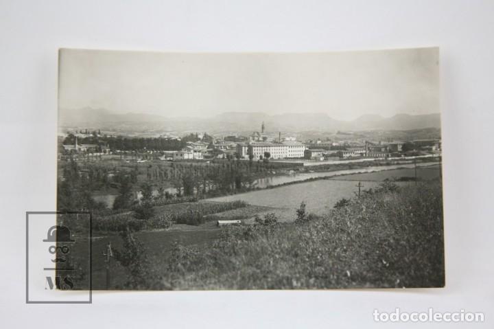 POSTAL FOTOGRÁFICA - MANLLEU, VISTA PANORÁMICA / BARCELONA - ED. GAJA - AÑOS 50 (Postales - España - Cataluña Moderna (desde 1940))