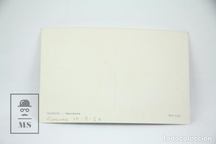 Postales: Postal Fotográfica - Manlleu, Vista Panorámica / Barcelona - Ed. Gaja - Años 50 - Foto 2 - 114958943