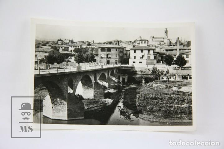 POSTAL FOTOGRÁFICA - MANLLEU, VISTA PARCIAL / BARCELONA - ED. ? - AÑOS 50 (Postales - España - Cataluña Moderna (desde 1940))