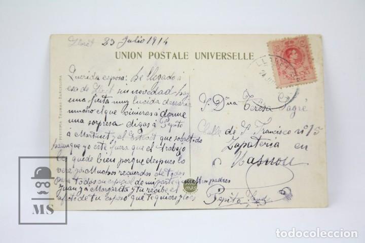Postales: Antigua Postal - Lloret De Mar Nº 27, Festa major 24 Juliol La varada / Girona -Ed. Thomas- Año 1914 - Foto 2 - 114961691