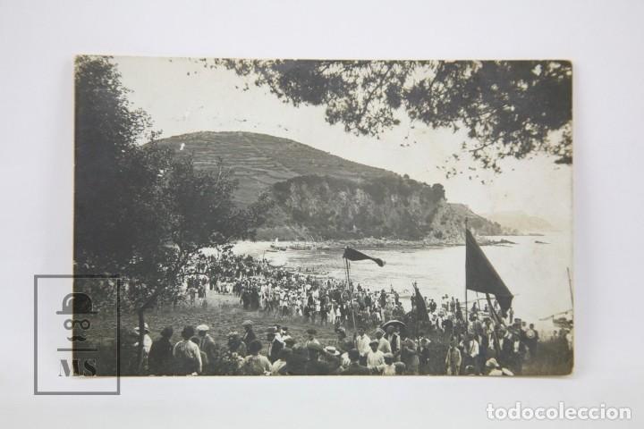 ANTIGUA POSTAL FOTAGRÁFICA - LLORET DE MAR, FESTA MAJOR 24 JULIOL / GIRONA - ED. ? - AÑO 1914 (Postales - España - Cataluña Antigua (hasta 1939))
