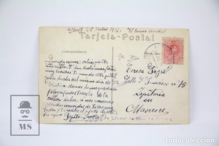 Postales: Antigua Postal Fotagráfica - Lloret De Mar, Festa major 24 Juliol / Girona - Ed. ? - Año 1914 - Foto 2 - 114961939