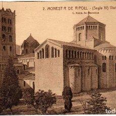 Postales: BONITA POSTAL - MONESTIR DE RIPOLL (GIRONA) - VISTA GENERAL. Lote 115334863