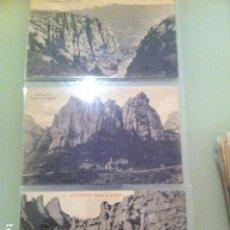 Postales: 3 POSTALES ANTIGUAS MONTSERRAT. Lote 115404599