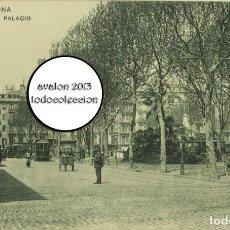 Postales: POSTAL BARCELONA - PLAZA PALACIO - HAUSER Y MENET 3010 - EXCELENTE ESTADO. Lote 115456083