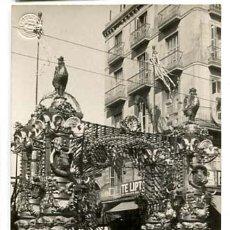 Postales: BARCELONA FIESTAS 1910 ARCO DE LA BOQUERIA. POSTAL FOTOGRÁFICA. FOT. BELTRÁ. SIN CIRCULAR. Lote 115763167