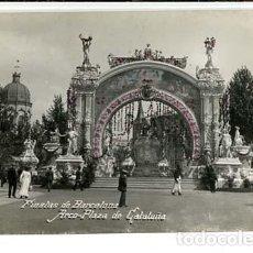 Postales: BARCELONA FIESTAS 1910 ARCO PLAZA DE CATALUÑA. FOT. BELTRÁ POSTAL FOTOGRÁFICA SIN CIRCULAR. Lote 115763355