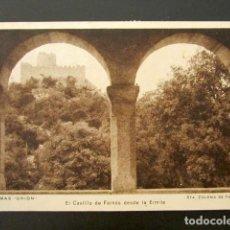 Postales: POSTAL GERONA. TERMAS ORION. EL CASTILLO DE FARNÉS DESDE LA ERMITA. SANTA COLOME DE FARNÉS. CIRCULAD. Lote 115853983