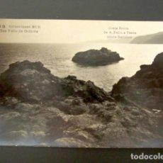 Postales: FOTO POSTAL COSTA BRAVA. DE S. FELIU A TOSSA. ISLOTE SADOLICH. COLECCION MUR. SAN FELIU DE GUIXOLS.. Lote 115854695
