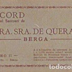 Postales: RECORD DEL REIAL SANTUARI DE NTRA SRA DE QUERALT BERGA TOMO II EDICIO HUCH BERGA. Lote 116091935