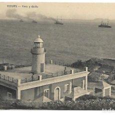 Postales: POSTAL DE ROSAS, GIRONA. FARO Y GOLFO. FOT. FONOLLERAS. SIN CIRCULAR.. Lote 116132899