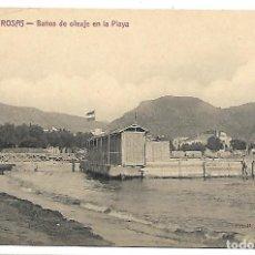 Postales: POSTAL DE ROSAS, GIRONA. BAÑOS DE OLEAJE EN LA PLAYA. FOT. FONOLLERAS. SIN CIRCULAR.. Lote 116133027