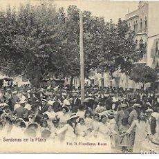 Postales: POSTAL DE ROSAS, GIRONA. SARDANAS EN LA PLAZA. FOT. FONOLLERAS. SIN CIRCULAR.. Lote 116133123