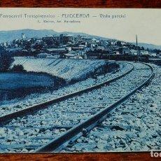 Postales: PUIGCERDA (GIRONA) FERROCARRIL TRANSPIRENAICO, VISTA PARCIAL, ROISIN 18 SIN CIRCULAR. Lote 116359787