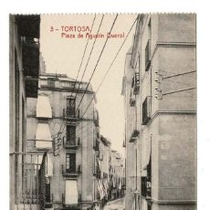 Postales: TORTOSA(TARRAGONA).- PLAZA DE AGUSTIN QUEROL. FOTOTIPIA THOMAS. Lote 116376519