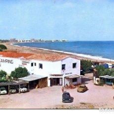 Postales: HOSPITALET DEL INFANTE-CALA D'OQUES-CAMPING PENSIÓN-1969- MUY RARA. Lote 116376939