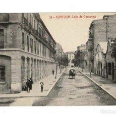 Postales: TORTOSA (TARRAGONA).- CALLE DE CERVANTES. FOTOTIPIA THOMAS. Lote 116380387