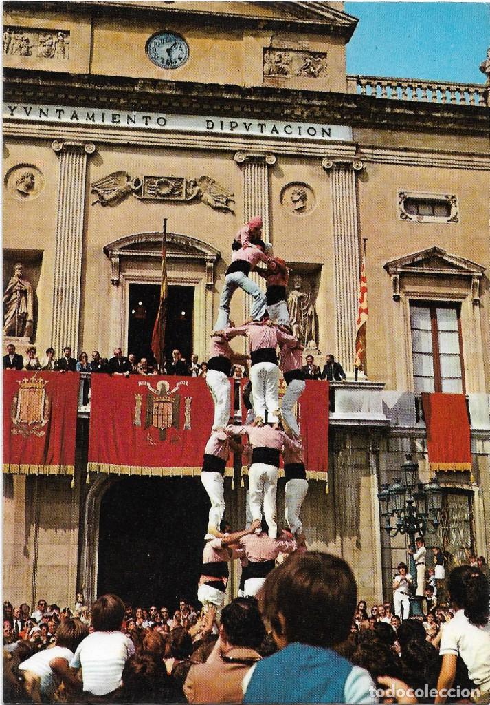 TARRAGONA EN FIESTAS , CASTELLS .- Nº 591 FOTO CHINCHILLA (Postales - España - Cataluña Moderna (desde 1940))