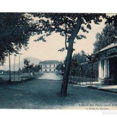 Postales: OLOT Nº 110 ESTACIÓ DEL FERRO- CARRIL D´OLOT A GIRONA L. ROISIN. Lote 116592947