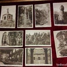 Postales: LOTE 9 POSTALES MONSERRAT. HUECOGRABADO RIEUSSET. IMPECABLES. Lote 116845347