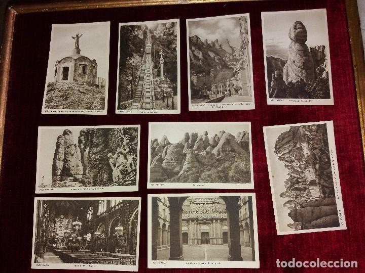 Postales: LOTE 9 POSTALES MONSERRAT. HUECOGRABADO RIEUSSET. IMPECABLES - Foto 2 - 116845347