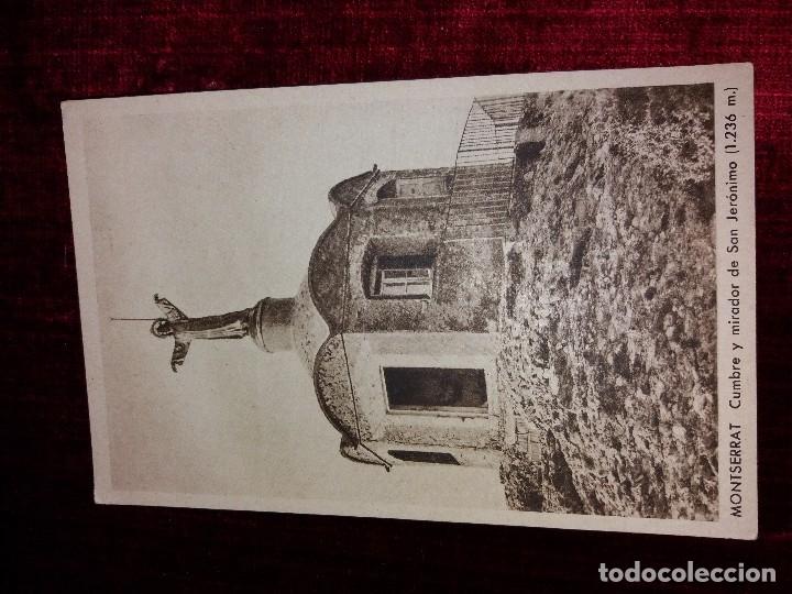 Postales: LOTE 9 POSTALES MONSERRAT. HUECOGRABADO RIEUSSET. IMPECABLES - Foto 3 - 116845347
