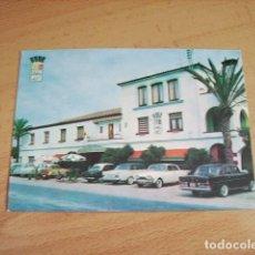 Postales: ALCANAR ( TARRAGONA ) HOTEL BIARRITZ ENTRADA PRINCIPAL. Lote 116956875