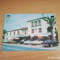 Postales: ALCANAR ( TARRAGONA ) HOTEL BIARRITZ ENTRADA PRINCIPAL. Lote 116957047