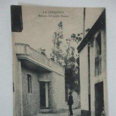 Postales: POSTAL - LA JUNQUERA (JONQUERA) - ENTRADA DEL JARDÍN DAUDER. Lote 117715011