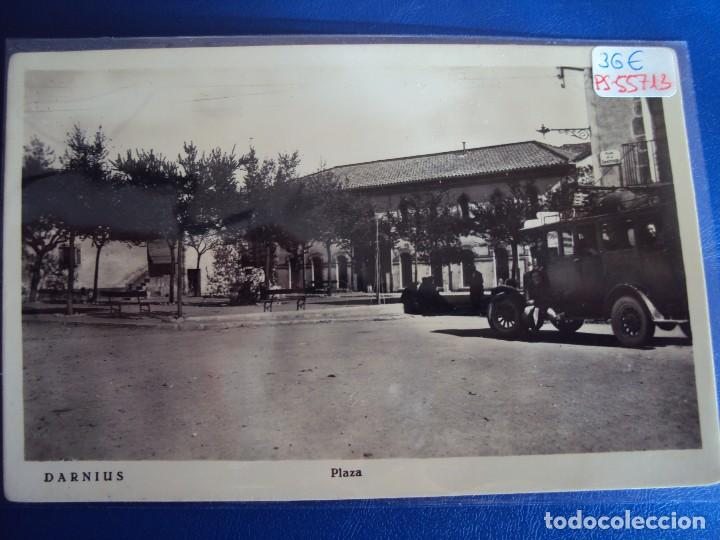 (PS-55713)POSTAL DE DARNIUS-PLAZA.COCHE DE LINEA (Postales - España - Cataluña Antigua (hasta 1939))