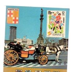 Postales: POSTAL - MONUMENTO A COLÓN Y TÍPICO SIMÓN - EDICIONES RO-FOTO - 1981 - ESPAÑA 82 - BARCELONA. Lote 117822691