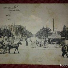 Postales: 1909 PASEO COLON BARCELONA POSTAL CIRCULADA ENVIADA A PAMPLONA. Lote 118031723