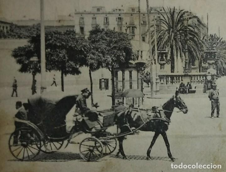Postales: 1909 Paseo colon Barcelona Postal circulada enviada a Pamplona - Foto 5 - 118031723