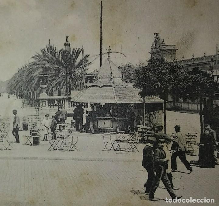 Postales: 1909 Paseo colon Barcelona Postal circulada enviada a Pamplona - Foto 6 - 118031723
