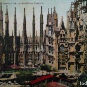Sagrada familia 53 Barcelona Templo de la sagrada familia. Missè hermanos. Postal antigua